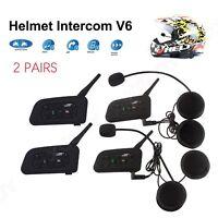 1200m Motorrad Helm Sprechanlage Gegensprechanlage Intercom Bluetooth 4PCS DE