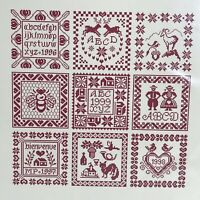 9 Block Sampler Cross Stitch Chart 9 Carres Folkloriques Marjorie Massey French
