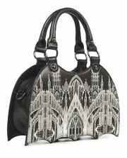 Banned Apparel Gothic Skyline Horror Vampire Shoulder Handbag