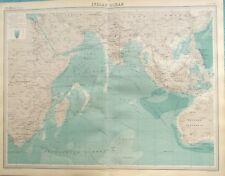 Map of Indian Ocean. 1922 INDIA. AFRICA. SOUTH EAST ASIA. Original
