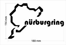 Nurburgring Sticker Vinyl Decal Many Colour   18cm x 11cm , 7 x 4.5 inch