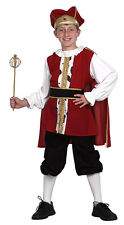 Boys Tudor King Henry Book Week Medieval Fancy Dress Costume Outfit New Age 6-9