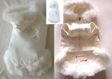 perros Suéter Abrigo Algodón Con puschelbesatz Capucha en crema talla S klkxde