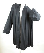 Jaeger Black Open Front Cardigan Jacket Lagenlook Oversize M Lightweight Wool