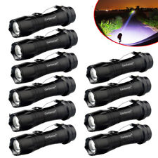 10PCS 20000 Lumens 14500 AA Police Tactical Zoomable Led Flashlight Torch Light