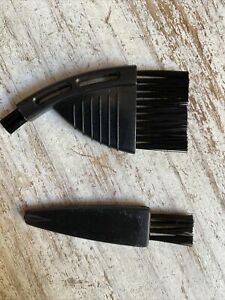 2x small brushes black to clean beard trimmer keyboard haircutter