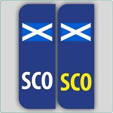 2 x SCO FLAG SCOTLAND CAR NUMBER PLATE VINYL STICKERS
