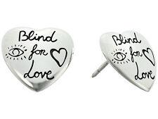 Gucci Blind of Love Heart 925 Sterling Silver Studs Earrings YBD45525500100U