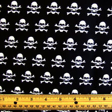 ☠️ SKULLS FABRIC 100% Cotton HALLOWEEN Goth Pirate Crafts Clothing Decoration
