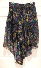 CHLOE Floral High Low Skirt Silk Chiffon Abstract Flowy Layered Sz 38/6 France