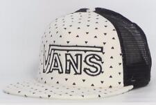 Vans Off The Wall Drop V Womens White Heart Dots Snapback Trucker Hat NEW NWT