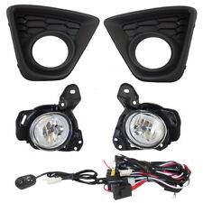 13-16 Mazda CX-5 Set of Fog Lights Lamps & Bezels Kit w/ Bulb Wiring Switch