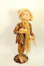 "2001 Rare Collectible Annalee 30"" Doll Halloween Thanksgiving Scarecrow #3151"