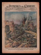 RSI. WWII. Domenica del Corriere del 2 Aprile 1944. Monte Cassino. Walter Molino
