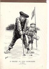 Golfing Smiling Caddy Kemble art Golf 1911 John D. Rockefeller