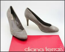 DIANA FERRARI WOMEN'S CLASSIC DRESS  SUEDE TAUPE HEELS SHOES SIZE 8.5