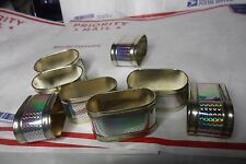 X8 Oval metal silverplated ? napkin rings