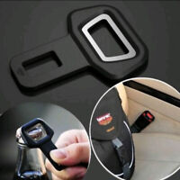 1x Black Car Interior Seat Belt Buckle Warning Stopper Bottle Opener Accessories