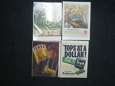 Lot of 4 Automobile Related Advertising Pages From Magazines Life 40's-70's