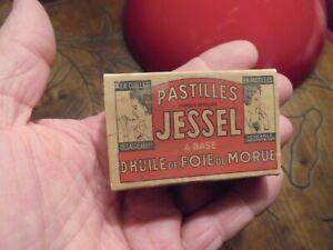Ancienne Boite Carton Pastilles Jessel Huile de Foie de Morue Neuilly sur Seine