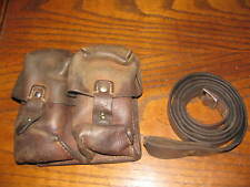 Yugo military leather sks sling and ammo pouch two cell double pocket 7.62x39