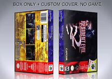 RESIDENT EVIL 2. ENGLISH. Box/Case. Nintendo 64. BOX + COVER. (NO GAME).