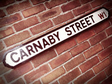 Carnaby Street Old Fashioned London Vintage Street Sign Soho Westminster Road