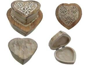 Truhe Herzform in verschiedenen Größen Schatztruhe Holzbox Truhe  Holztruhe Herz