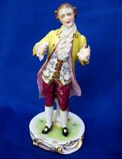ANTIQUE MULLER VOLKSTEDT DRESDEN LACE GERMAN PORCELAIN FIGURINE GENTLEMAN