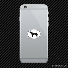 Australian Cattle Dog Euro Oval Cell Phone Sticker Mobile Die Cut