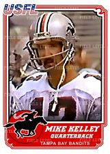 USFL MIKE KELLEY TAMPA BAY BANDITS / CHARGERS CUSTOM HAND MADE ART CARD