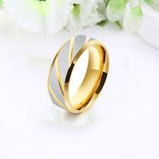 Mens Titanium Steel Mirror Polishing Jewelry Anniversary Wedding Promise Rings