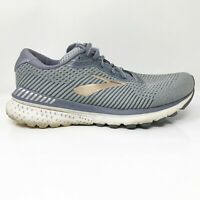 Brooks Womens Adrenaline GTS 20 1202961D073 Gray Running Shoes Lace Up Size 8 D