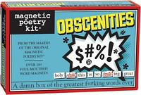 Magnetic Poetry OBSCENITIES Words for Refrigerator Novelty Fun  Poem Gift