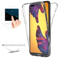 Cover Trasparente per Huawei P20 Lite Custodia Case Fronte Retro 360 TPU o PANNO