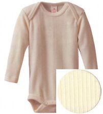 Baby, Body, langarm, Baumwolle/Schurwolle/Seide, natur, Gr. 74/80, NEU&OVP