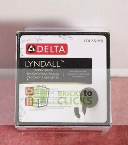 Delta- Lyndall Single Towel Hook in Matte Black