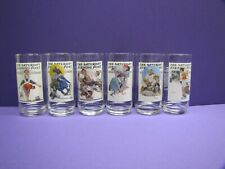 Norman Rockwell Saturday Evening Post Collector's Series Glasses Set of 6