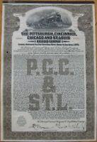 1925 ''Pittsburgh, Cincinnati, Chicago & St. Louis'' Railroad Bond Certificate