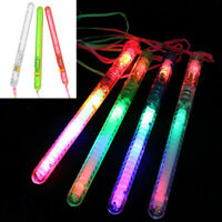 5/50x LED Flashing Glow Stick For Rainbow Light Up Blinking Wands Party Concert