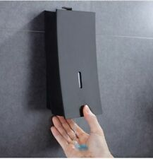 Bathroom 450ml Wall Mounted Single Foaming Commercial ABS Soap Dispenser Black