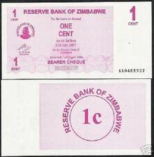 ZIMBABWE 1 CENT 2006 1/2 BUNDLE UNC LOWEST VALUE 50 & 100 Trillion Serie 50 NOTE