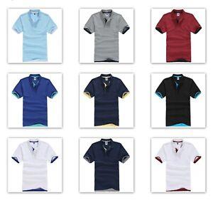 QHA Mens Womens Short Sleeve Polo Casual T-Shirt Plain Pique Cotton Shirt