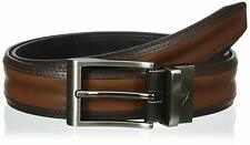 Dockers Mens 1 1/4 Inches Feather-Bombay Reversible Belt Tan Black