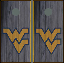 West Virginia University 0131 Custom Cornhole board game decals wraps skins