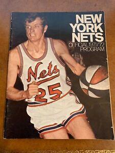 1971 New York Nets Preseason ABA Basketball Program Bill Melchionni Cover