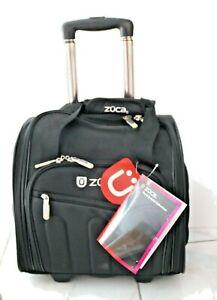 ZUCA Skipper Travel Artist Bag Black Nylon Telescoping Handle Wheels NEW W/Tag