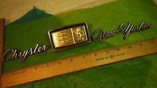 AH46 Chrysler NewYorker Trunk Emblems Vintage 1976 #2602424 CHRYSLER NEW YORKER