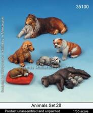 Mantis Miniatures 1:35 Animals Set #28 Dogs and Puppies Resin Figure Kit #35100