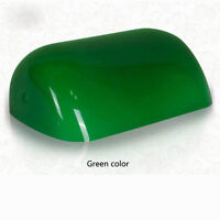 "Green Glass Banker Lamp Shade Cover Cased Replacement Lampshade 9"" X 5 1/4"""